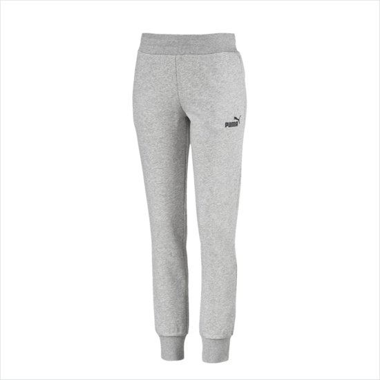 PUMA Ess Fl Cl Joggingsbroek Dames - Light Gray Heather