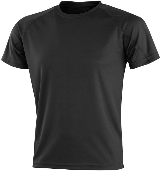 Senvi Sports - Impact Aircool Sport Shirt - Zwart - XXXXL (4XL) - Unisex