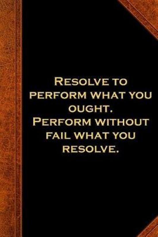 2019 Daily Planner Ben Franklin Quote Resolve Perform Vintage Style