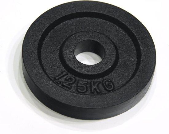 RS Sports Halterschijven - Gietijzer - 2 x 1,25 kg - Ø 30 mm