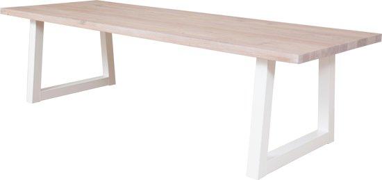 Stalen Design Tafel.Bol Com Designtafel Loire 4 6 Persoons Eettafel Eiken