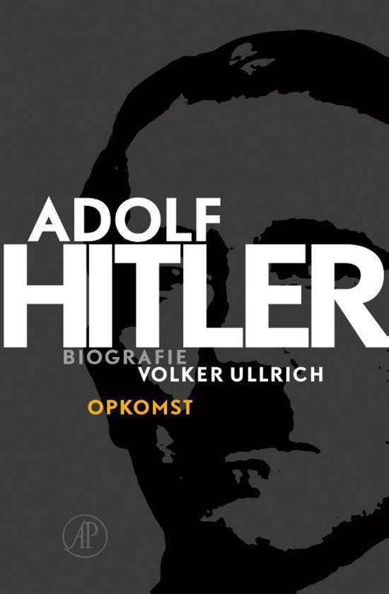 Boek cover Adolf Hitler / 1 De jaren van opkomst 1889 - 1939 van Volker Ullrich (Onbekend)