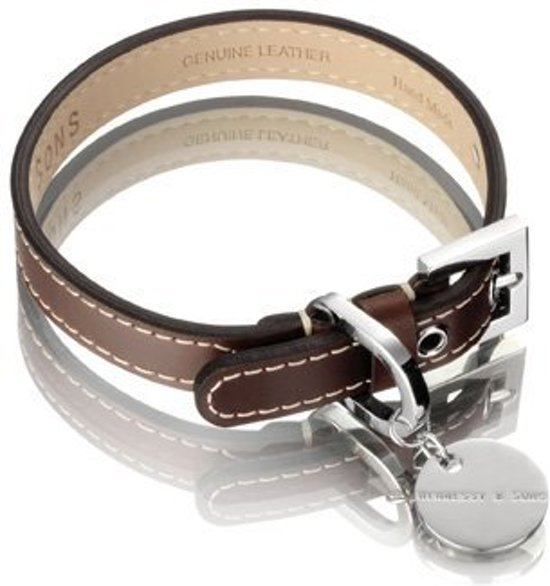 Hennessy and Sons Royal - Hondenhalsband - Bruin - maat M
