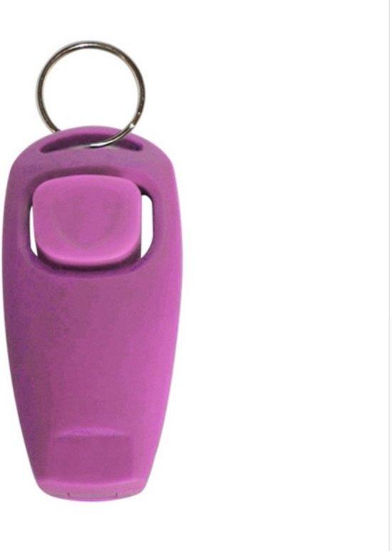 Roze hondenfluitje en clicker in een - NBH®