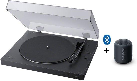 Sony PS-LX310BT - Platenspeler + gratis speaker - Zwart