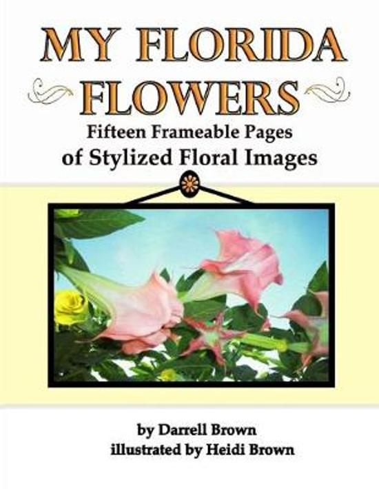 My Florida Flowers Fifteen Frameable Pages of Stylized Floral Images