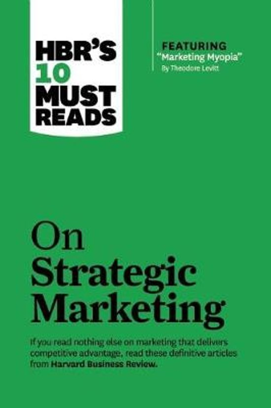 Boek cover Hbrs 10 must reads: on strategic marketing van Clayton Christensen (Paperback)