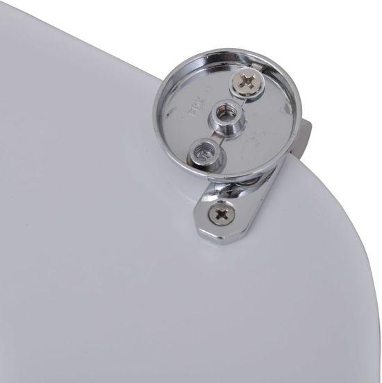 vidaXL Toiletbril van MDF met waterdruppel dessin