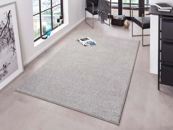 Modern effen vloerkleed Pure - grijs 140x200 cm