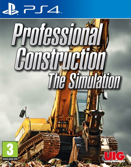 professional construction the simulation ps4 uig entertainment games. Black Bedroom Furniture Sets. Home Design Ideas