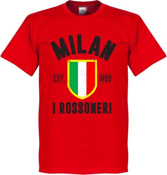 AC Milan Established T-Shirt - Rood - XXXL
