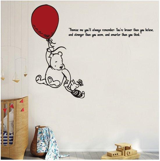 Winnie The Pooh Muursticker.Bol Com Muursticker Winnie The Pooh Met Ballon