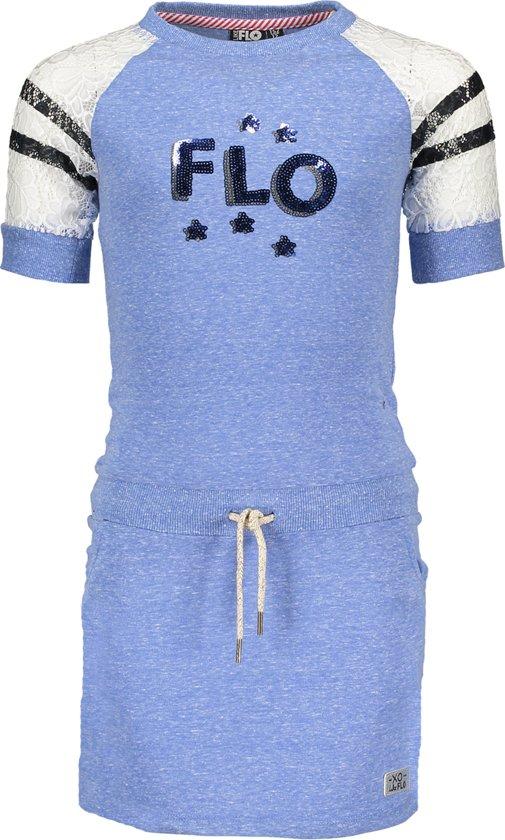 Like Flo Meisjes Jurk - Cobalt - Maat 104