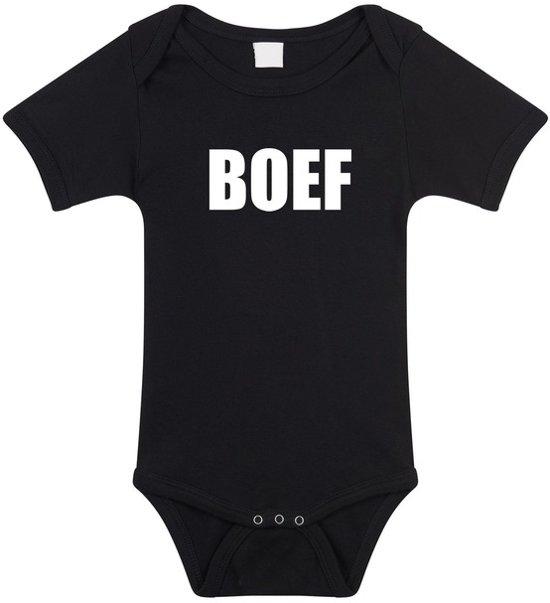 Babykleding 56.Bol Com Boef Tekst Baby Rompertje Zwart Jongens En Meisjes