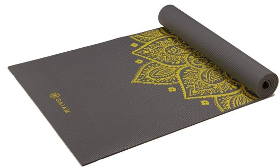Gaiam Yogamat - 5 mm - Citron Sundial