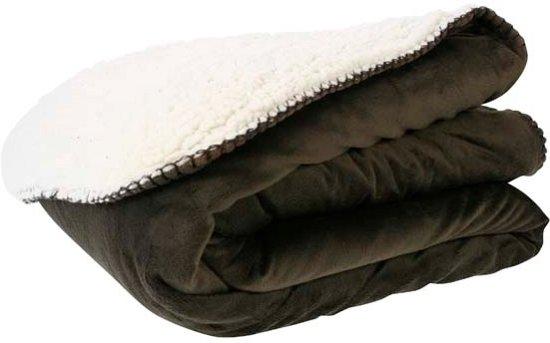 Cosy & Trendy - Plaid bruin-wit - 130 x 160 cm Valentinaa