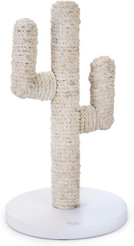 Designed By Lotte Houten Krabpaal Cactus - vintage Wit - 35 x 35 x 60 cm