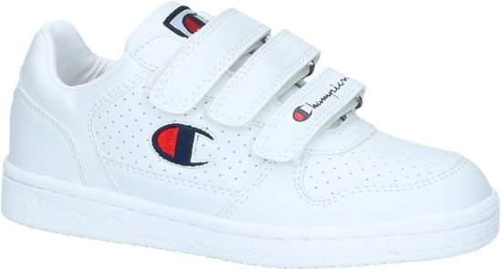 Witte Velcro Basket Sneakers Champion Chicago Low NX80knwOP