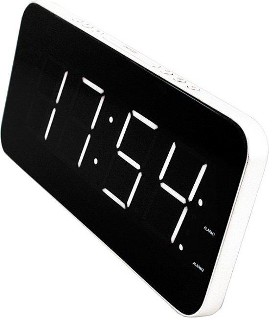 soundmaster ur8900 alarm klok wit. Black Bedroom Furniture Sets. Home Design Ideas