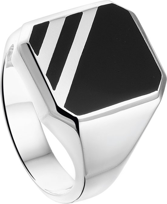 The Jewelry Collection For Men Zegelring Onyx - Zilver
