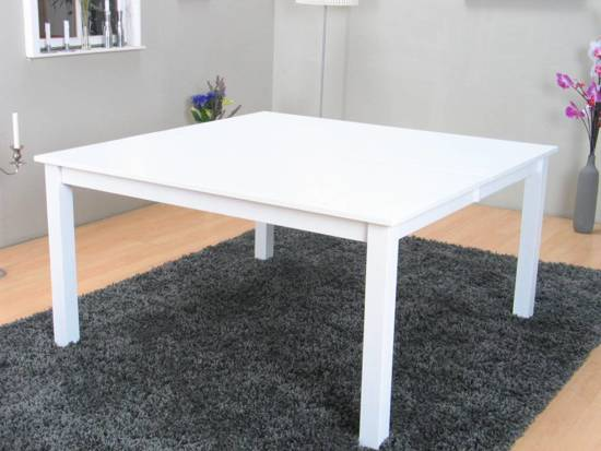 Vierkante Eettafel Wit.Bol Com Sirius Vierkante Eettafel 145x145 Cm Wit