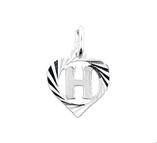 Hanger Zilver Letter H Hart