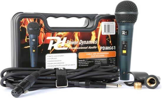 Power Dynamics PDM661 Dynamische microfoon in plastic doos