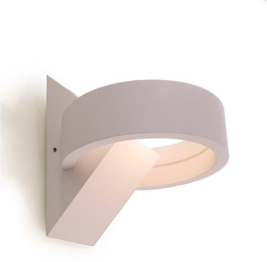 bol.com | Zoomoi Gracie | Wandlamp woonkamer LED wit | Slaapkamer | Rond