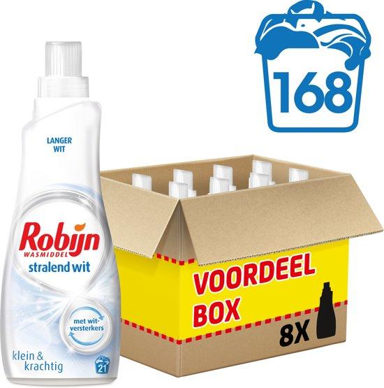 Robijn Klein & Krachting Stralend Wit - 168 wasbeurten - wasmiddel - voordeelverpakking