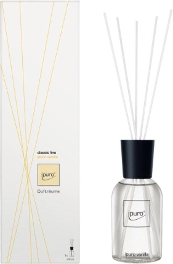 ipuro classic line vanilla Geurfles Transparant, Wit geurverspreider