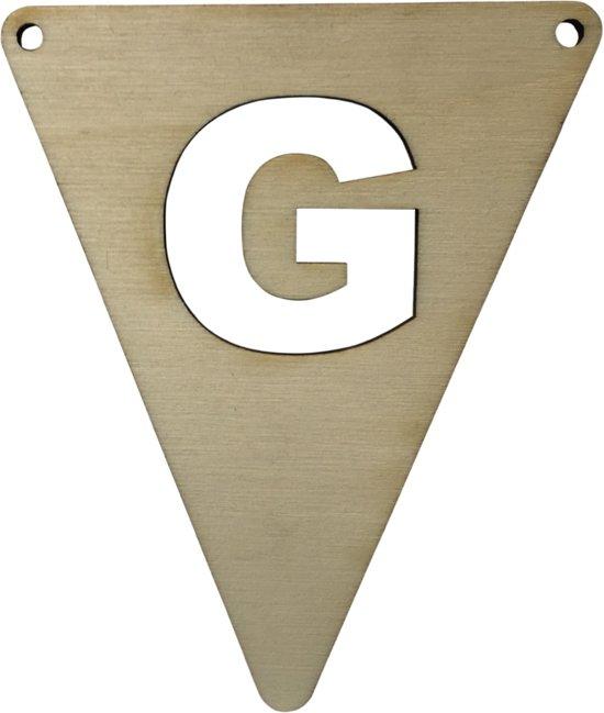 Houten Vlagletter G | 11,5 cm