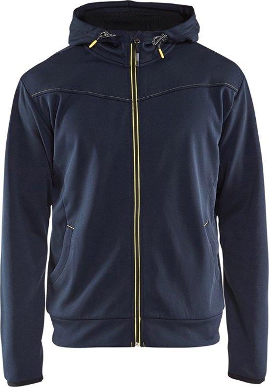 Blåkläder 3363-2526 Hoodie met rits Donkerblauw/Geel maat XL