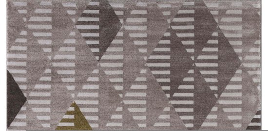 Laagpolig Vloerkleed Enjoy 160x230 cm - Beige / Goud