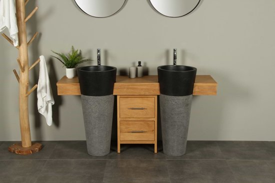 Bol.com houten badkamermeubel uit teak tambora 160 cm met