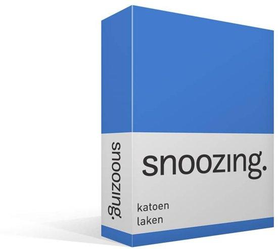 Snoozing - Laken - Katoen - Eenpersoons - 150x260 cm - Meermin