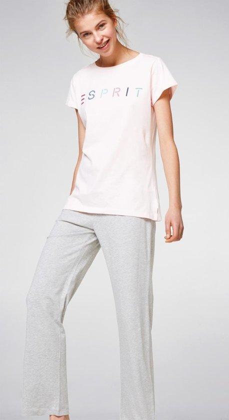 Bolcom Esprit Pyjama Dames Roze Grijs