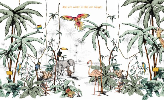 Behang - Foto behang - Jungle Tonal 130cm breed x 260cm hoog