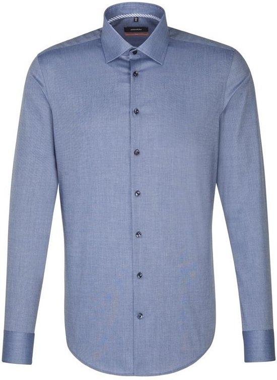Seidensticker overhemd slim fit blauw, maat 45