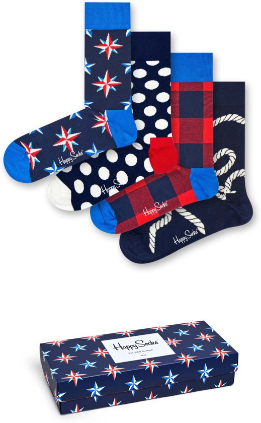 Happy Socks Nautical Stars Giftbox - Maat 41-46