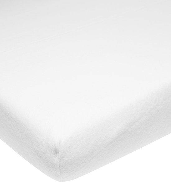 Meyco molton stretch hoeslaken - 90x200 cm - wit