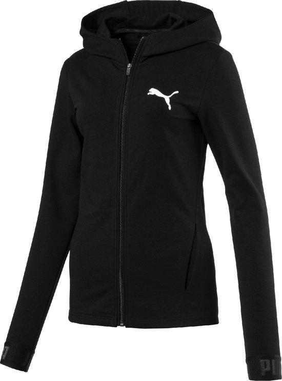 PUMA Trainingsjack URBAN SPORTS FZ Hoody W 594044 01 - Dames - Puma Black -  Maat XS