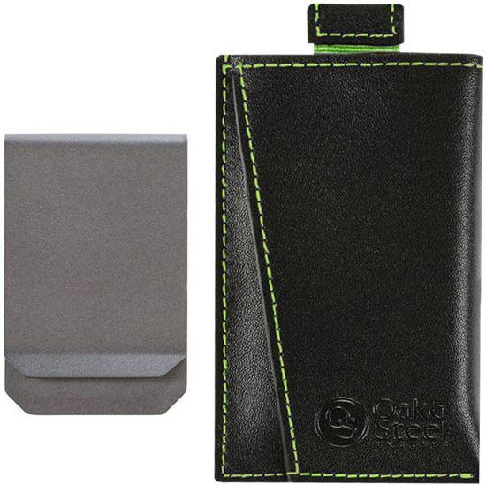 ac021fe9ced Compacte dunne Pasjeshouder – Echte leder – Inclusief money clip – Slimme  design & Anti-
