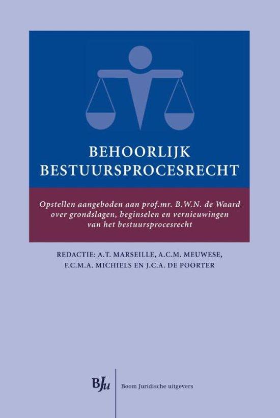 Boek cover Behoorlijk bestuursprocesrecht van J.C.A. de Poorter (Hardcover)