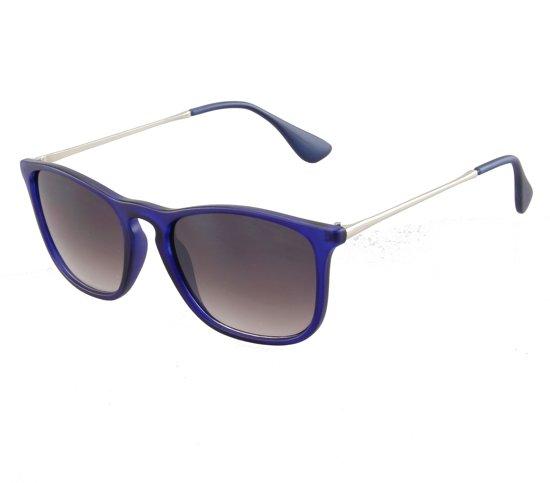 4ff8a9ea70e985 Zonnebril - Classic Square - UV 400 bescherming Cat. 3 - Glazen 55mm - Blauw