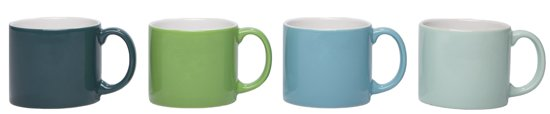 Jansen+co My Mug Medium Emerald Mokken 0,24 L - 4 st.
