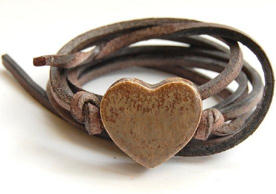 Armband hart kiezelkleur