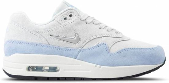 95f9be5b2a3 Nike Air Max 1 Premium - Sneakers - Wit/Lichtblauw - Unisex - Maat 44