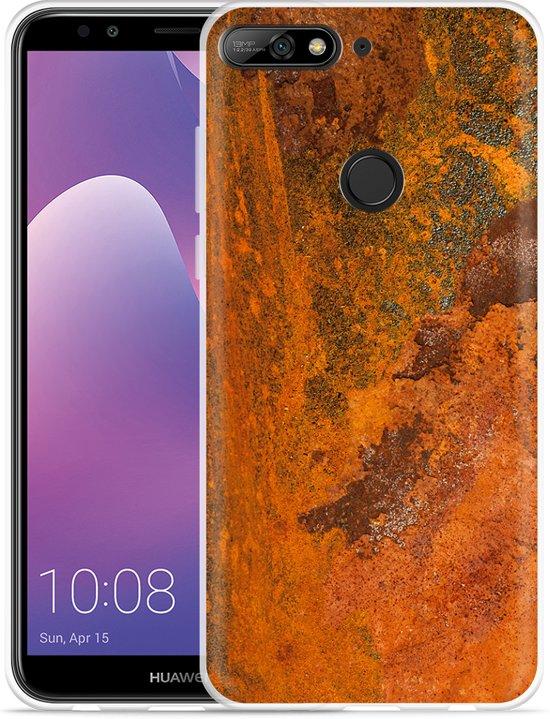 Huawei Y7 2018 Hoesje roestig metaal