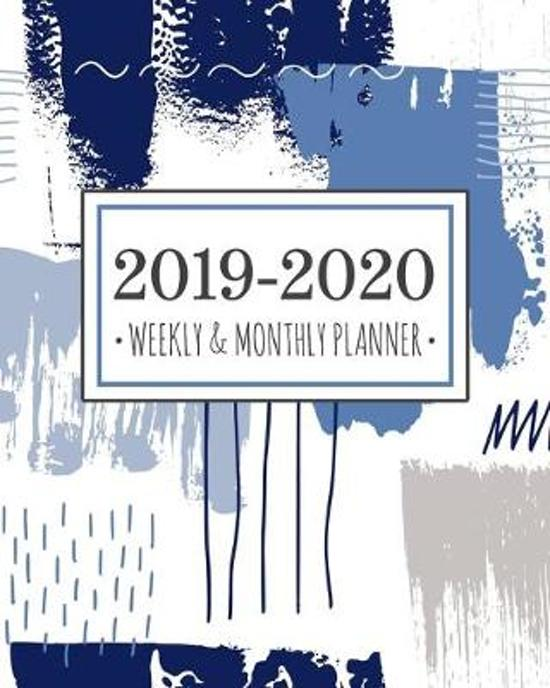 2019-2020 planner abstract blue: Abstract Blue Diary Agenda Calendar Schedule Organizer - Sept 2019 through December 2020