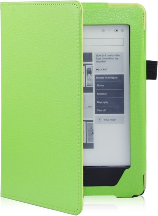 Shop4 - Kobo Aura H2O Edition 1 (2014) Hoes - Book Cover Lychee Groen
